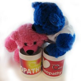 i love homoeopathy – includes mug and jelly teddy
